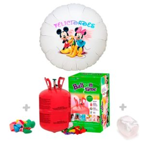 Pack helio mas un globo de poliamida personalizado