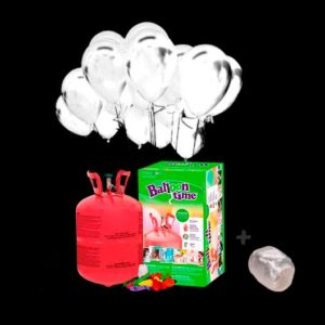 Pack globos Led 20 y Helio pequeño