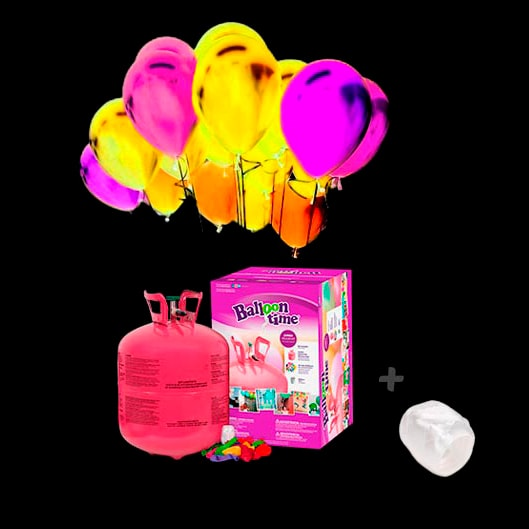 Pack Globos Led Colores 40 y Helio Grande