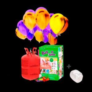 Pack globos Led Colores 20 y Helio pequeño