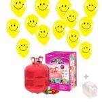 Bombona Helio grande con Globos 50 globos Smiley