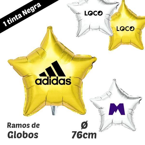 Globos Estrellas Impresos 1 Tinta 76 cm