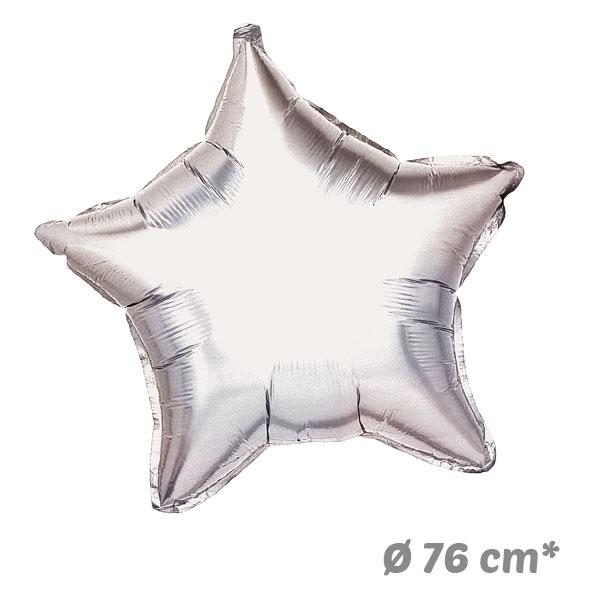 Globos Estrella Plata de Helio 76 cm