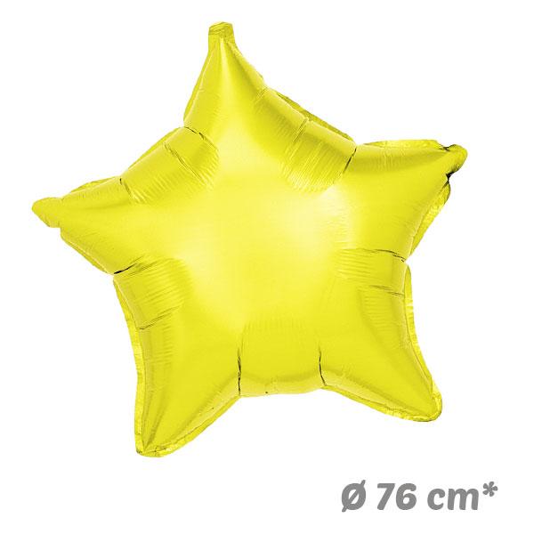 Globos Estrella Amarillo de Helio 76 cm