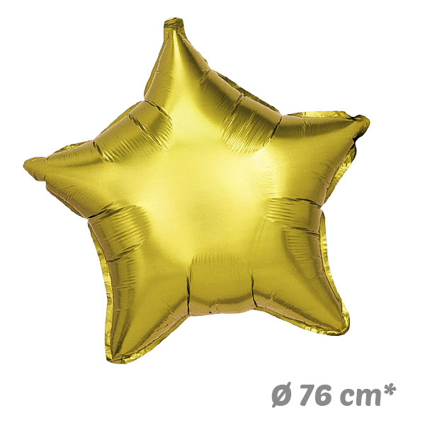 Globos Estrella Dorado de Helio 76 cm