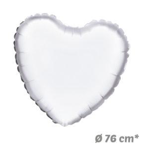 Globos Corazon Blanco de Helio 76 cm