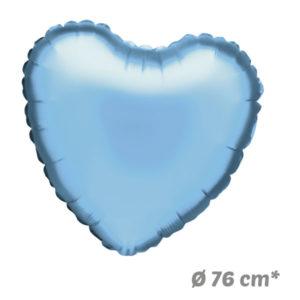 Globos Corazon Azul Claro de Helio 76 cm