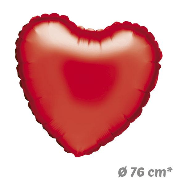 Globos Corazon Rojo de Helio 76 cm