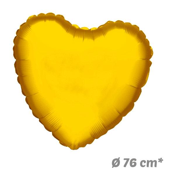 Globos Corazon Dorado de Helio 76 cm