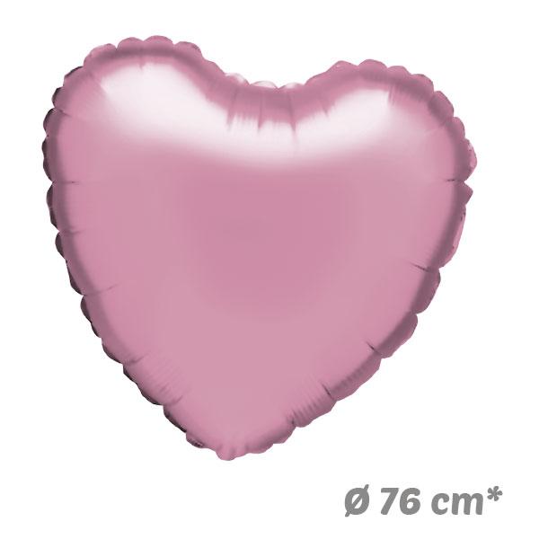 Globos Corazon Rosa Claro de Helio 76 cm