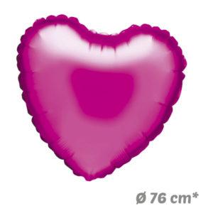 Globos Corazon Fucsia de Helio 76 cm