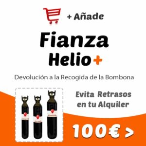 Fianza Botellas Helio Retornable