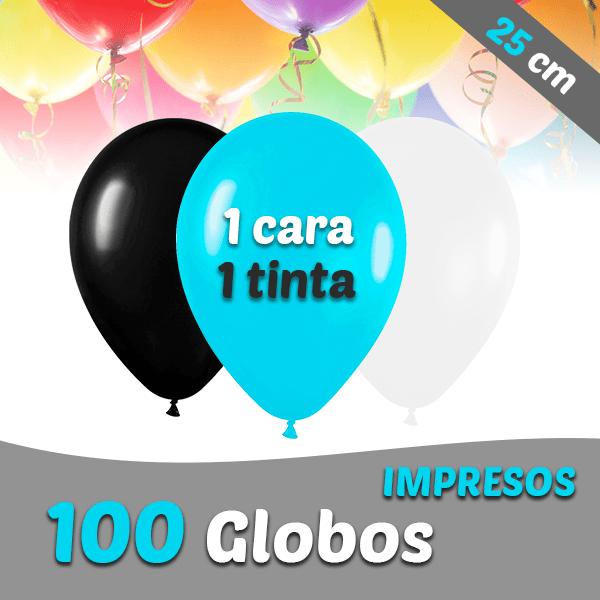 100 Globos Personalizados 25 cm