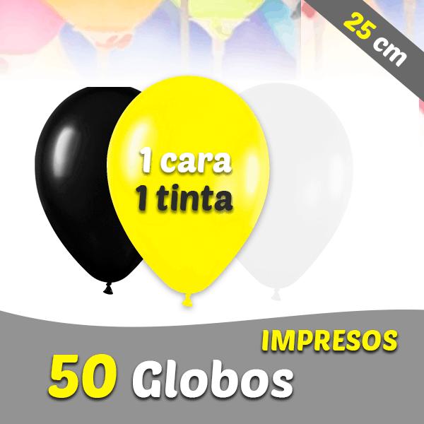 50 Globos Personalizados 25 cm