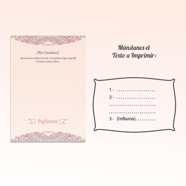 Invitaciones Boda Globos y Tarjeta Personalizados + Sobre | 25 cm Metalizados | Diseño 2
