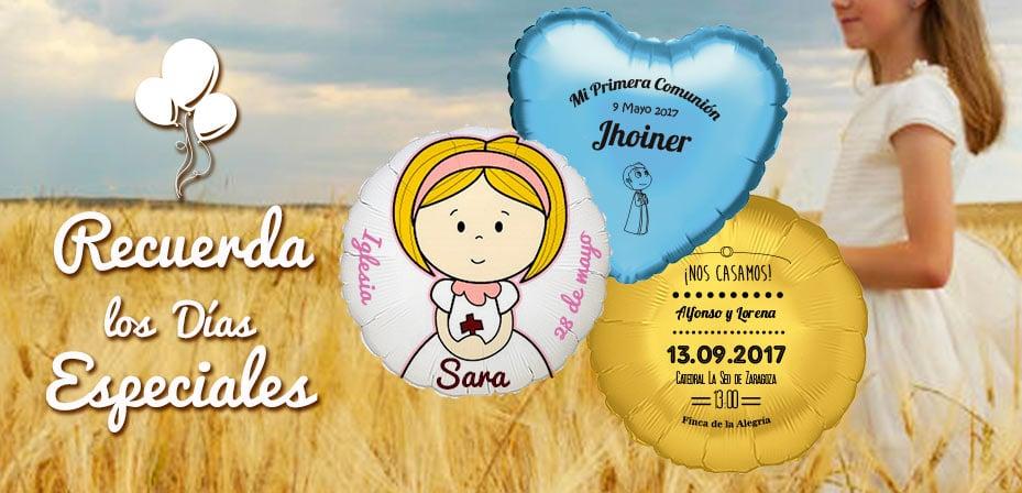 globos comunion y bodas personalizados