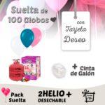 Suelta de Globos Boda 100 Globos con Tarjeta Deseo