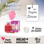 Suelta de Globos Boda 50 Globos con Tarjeta Deseo