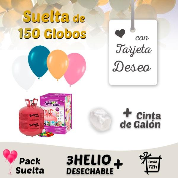 Suelta de Globos Boda 150 Globos con Tarjeta Deseo