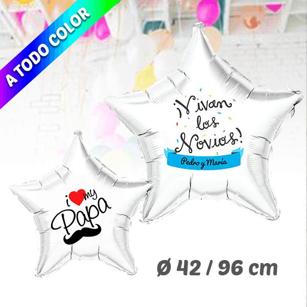 Globos de Helio Estrella Personalizado A Todo Color 42 / 76 cm