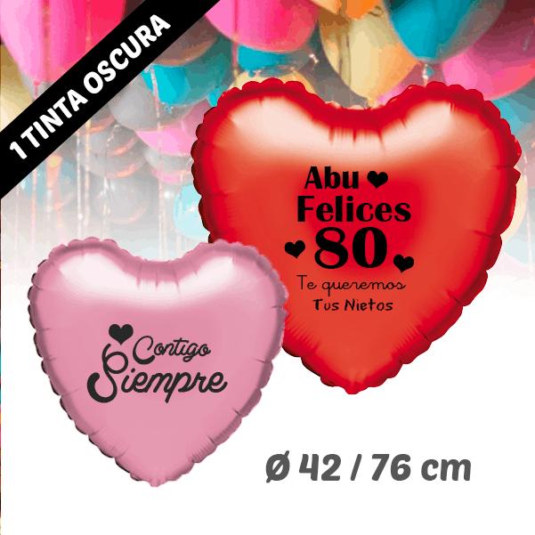 Globo de Helio Personalizados Corazón