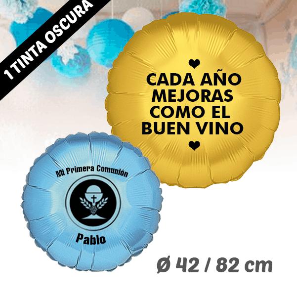 Globos de Helio Redondo Personalizado 1 Tinta 42 / 82 cm