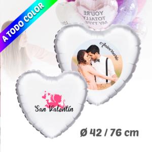 Globos de Helio Corazón Personalizado A Todo Color 42 / 76 cm