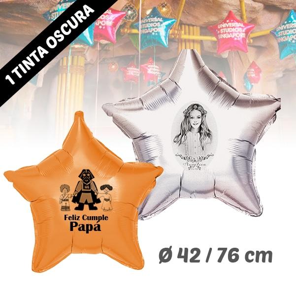 Globos de Helio Estrella Personalizado 1 Tinta 42 / 76 cm