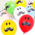 10 Globos Bigotes Colores