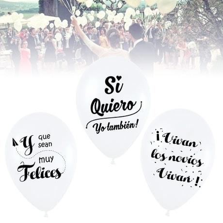 10 Globos Frases Bodas