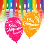 10 Globos Feliz Cumpleaños