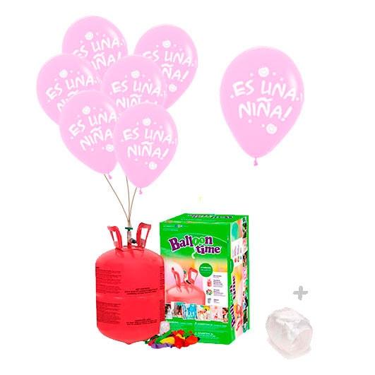 Pack Nacimiento Botella de Helio + Es una Niña
