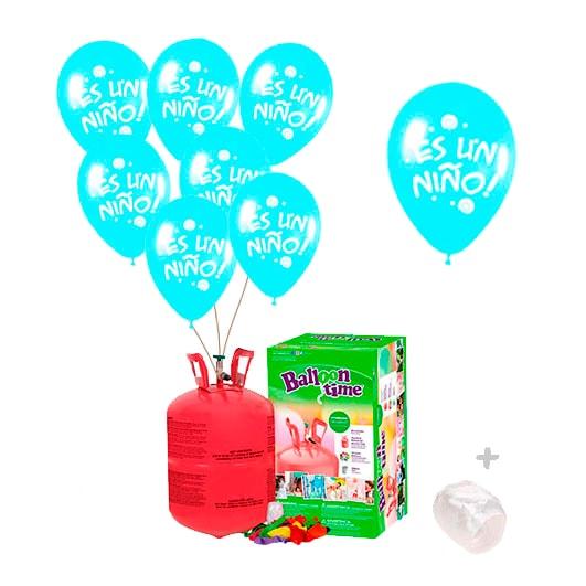 Pack Botella de Helio + Nacimiento Es una Niño