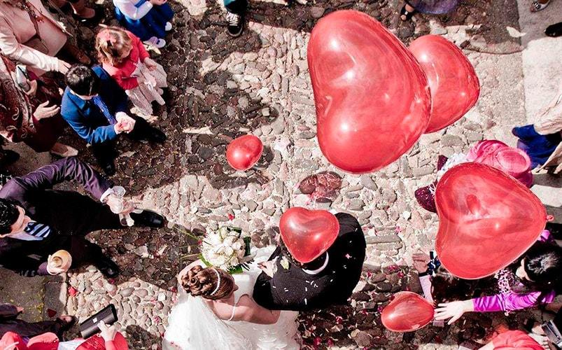 sueltas de globos y caídas globos