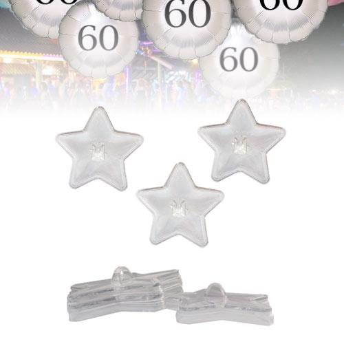 Pesos para Globos Estrellas Transparentes Amontonables
