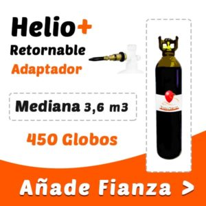 Botellas de Helio Retornable Mediana