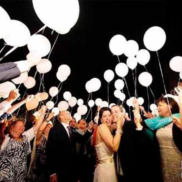 globos led blanco y colores helio fiestas