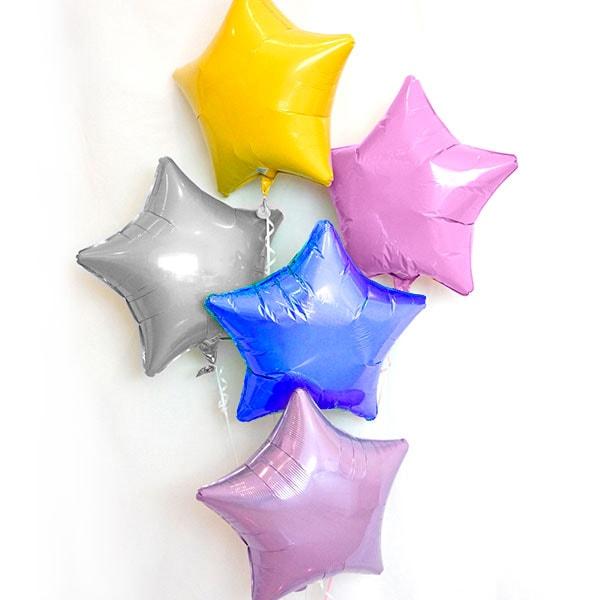 Globos de Helio: Botella Pequeña con 12 Globos de Poliamida Estrella