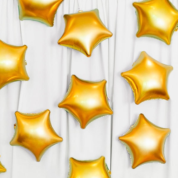 Globos Helio: Bombona Grande con 22 Globos Estrella de Poliamida