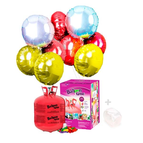 Globos Helio: Bombona Grande con 22 Globos Redondo de Poliamida