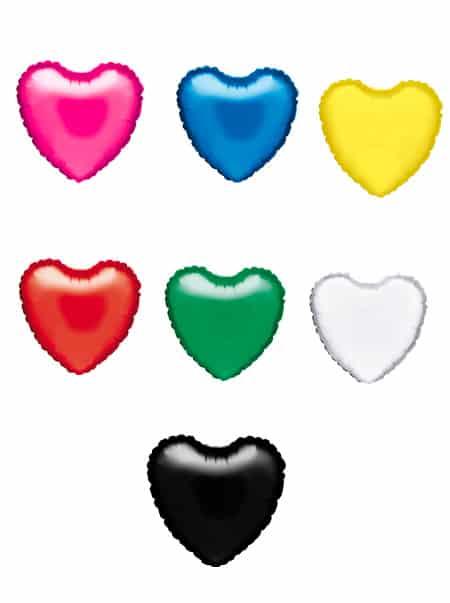 Colores Globos Corazon de Poliamida 42cm